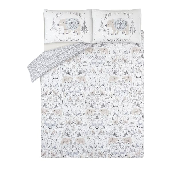 George Home White Celestial Bear Easy Care Duvet Set