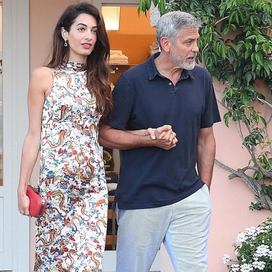 Amal Clooney Dragon-Print Dress
