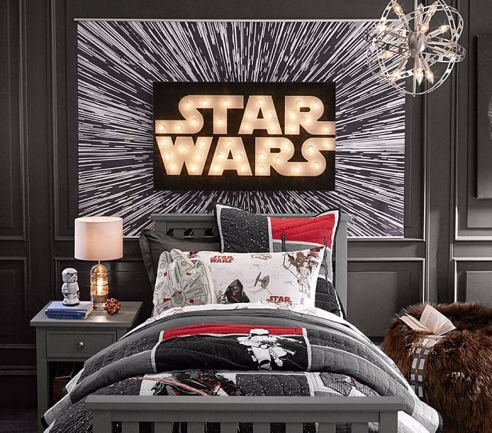 Star wars themed kids 39 bedroom popsugar moms Star wars bedroom ideas