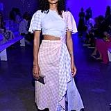 Indya Moore at the Prabal Gurung New York Fashion Week Show