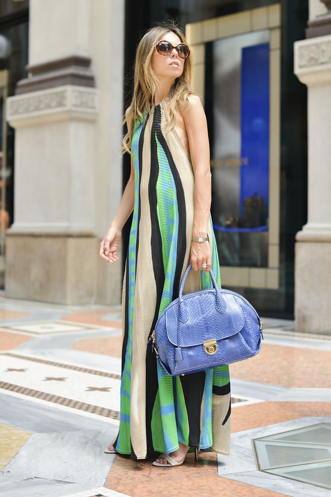 This abstract dress had us dreaming of watercolors.