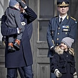 Princess Victoria and Family at Name Day Ceremony