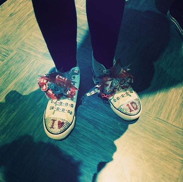 These snazzy kicks were the ultimate gift for Harry Styles. Source: Instagram user harrystyles