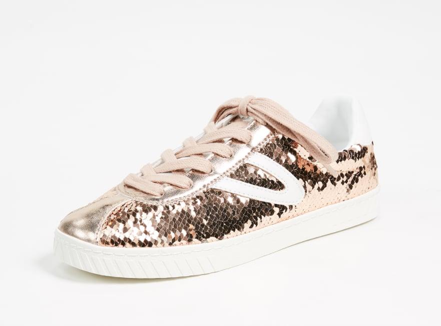 Tretorn Camden Metallic Lace-Up Sneakers