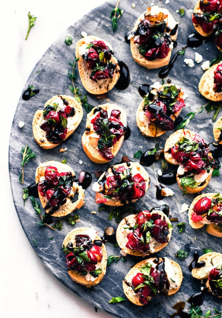 Cranberry Goat Cheese Gluten Free Crostini
