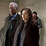 Morgan Freeman and Marion Cotillard in The Dark Knight Rises.