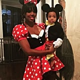 Kelly Rowland dressed as Minnie while her son, Titus, made an adorable Mickey in 2015.