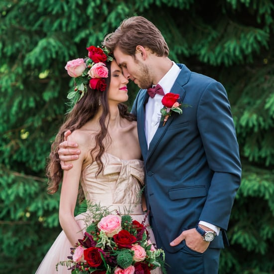 Woodsy Pink Bohemian Wedding