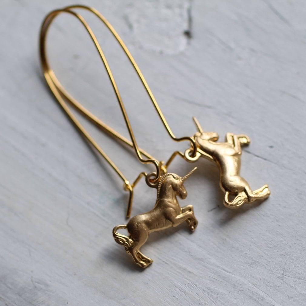 Unicorn Earrings ($15)