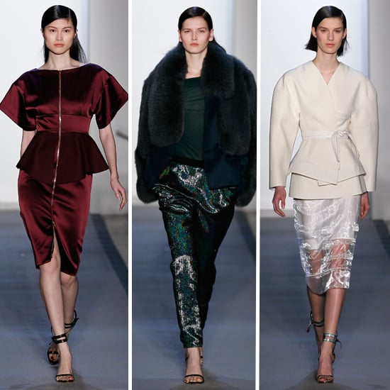 Runway Review and Pictures of Peter Som 2012 Fall New York Fashion Week Catwalk Show: Winter White, Peplums and more!