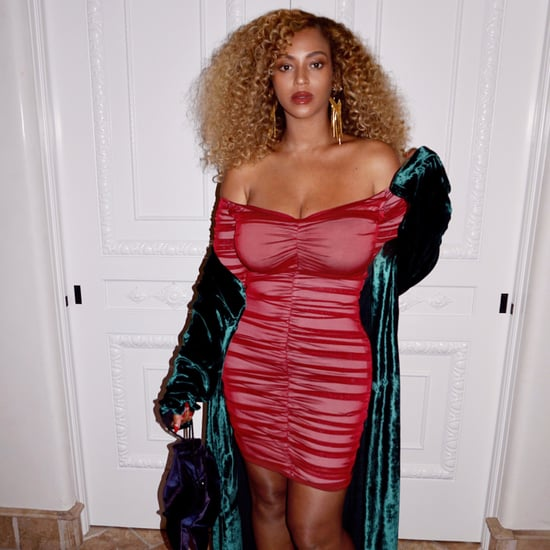 Beyonce Wearing Tight Red Dress Pictures August 2017