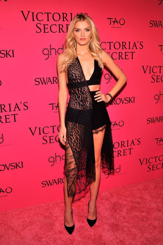 Lily Donaldson showed she wasn't afraid to take a risk in a barely there black number.