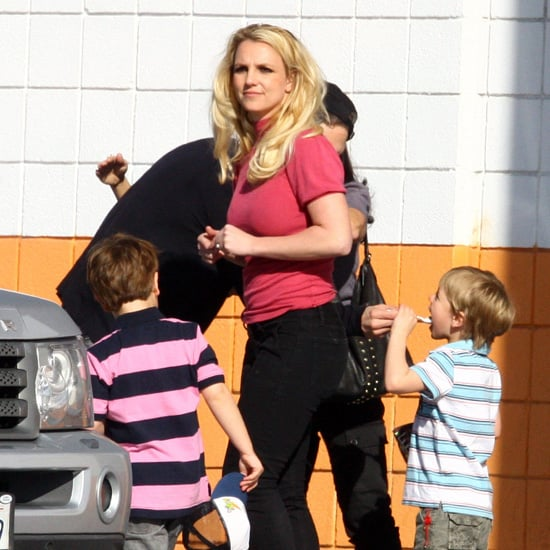 Britney Spears at a Bowling Alley in LA