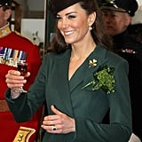 Kate Middleton wore green.