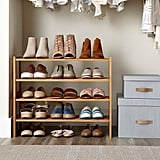 2-Tier Bamboo Stackable Shoe Shelf