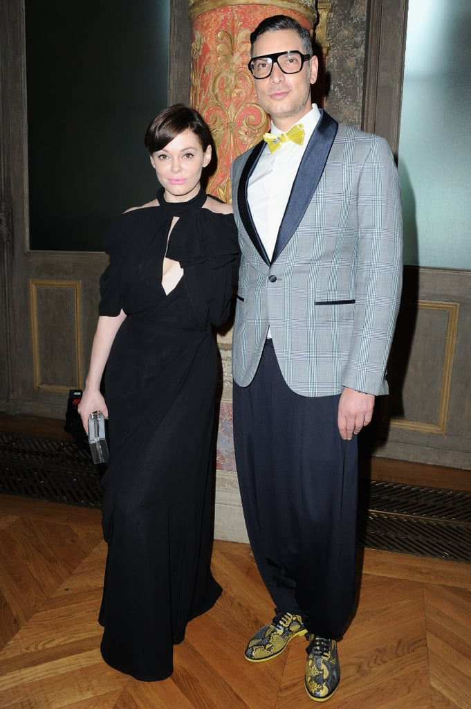Rose McGowan and Cameron Silver attended the Viktor & Rolf show on Wednesday.
