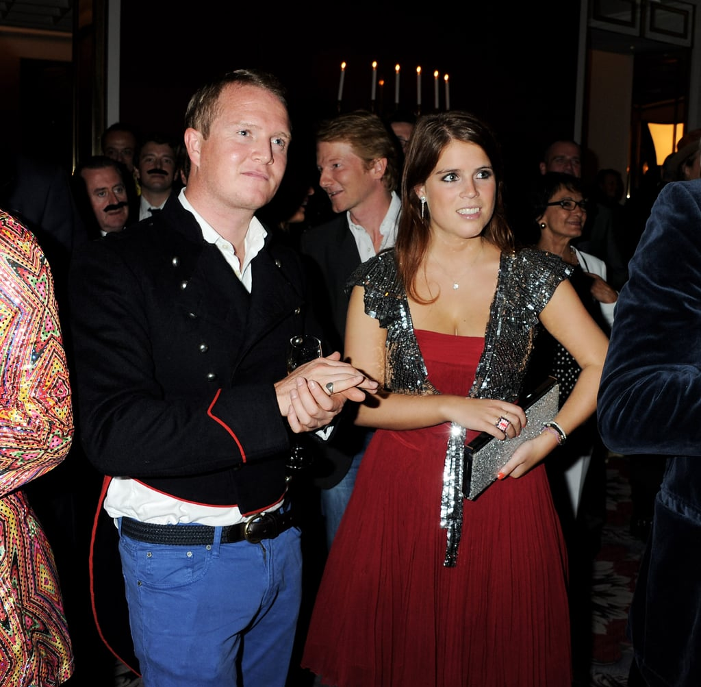 Princess Eugenie with a friend.