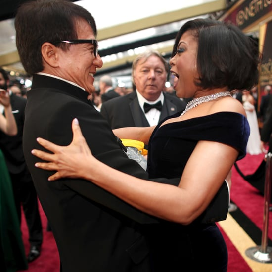 Taraji P. Henson and Jackie Chan Reunion at the 2017 Oscars