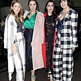 Millie Mackintosh, Amber Le Bon, Charli Howard, and Daisy Lowe at Roland Mouret Fall 2019