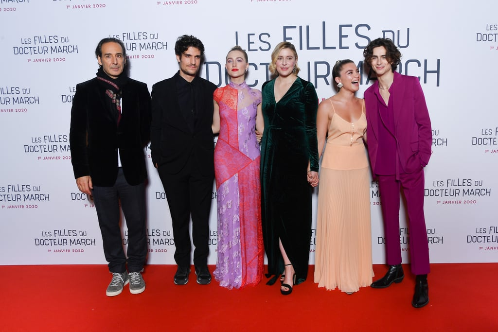 Alexandre Desplat, Louis Garrel, Saoirse Ronan, Greta Gerwig, Florence Pugh and Timothée Chalamet