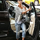 Halle Berry sported sunglasses and carried her purse in Hollywood.