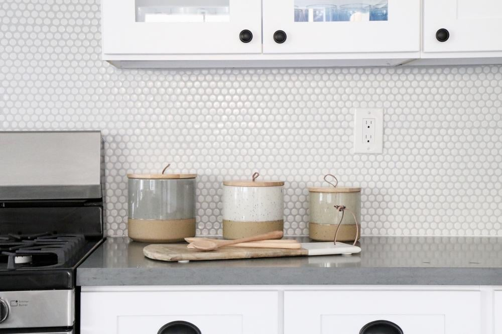 Two Tone Ceramic Canister