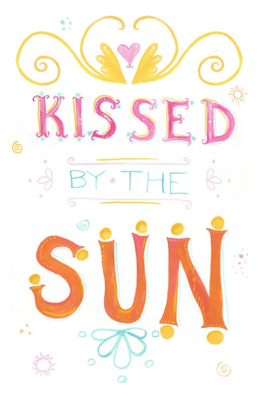 Kissed by the sun ($18)