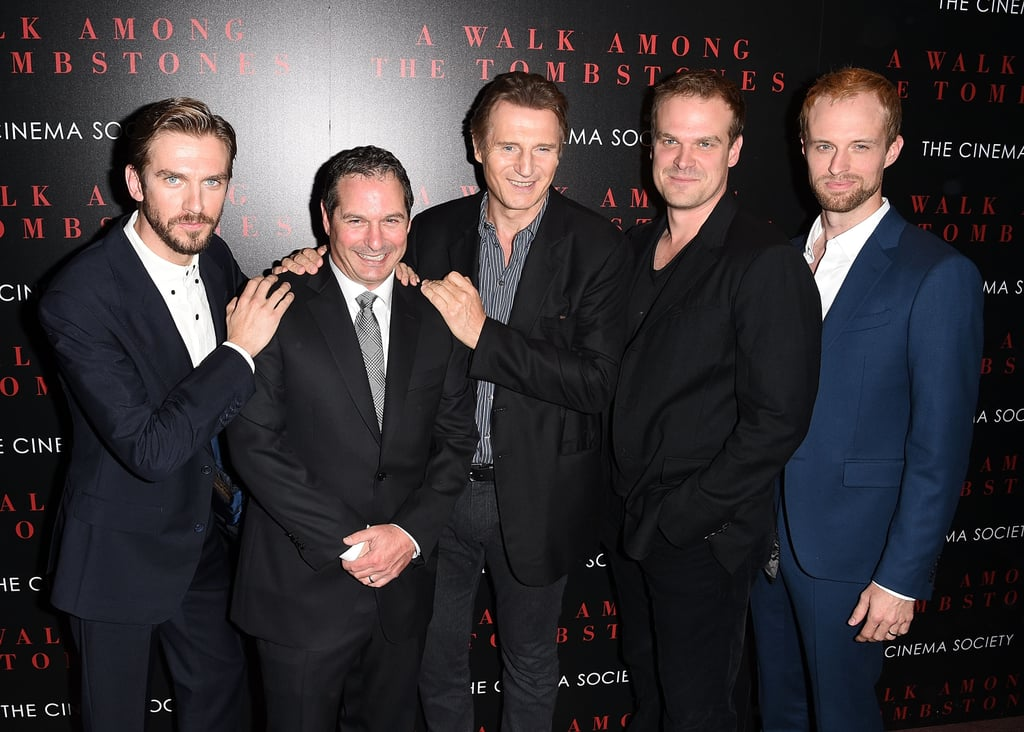 With Scott Frank, Liam Neeson, David Harbor, and Adam David Thompson