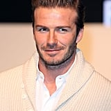 David Beckham at H&M in London.