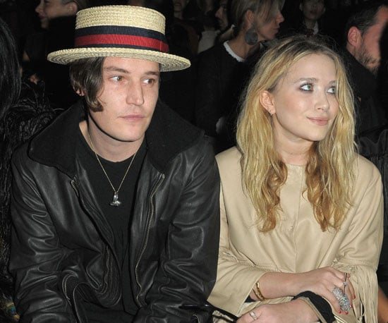Slide Photo of Mary-Kate Olsen and Nate Lowman at Paris Fashion Week