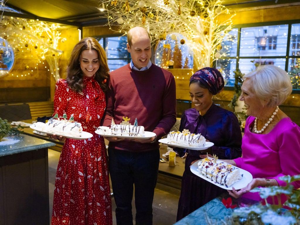 The Duke and Duchess of Cambridge With Nadiya Hussain and Mary Berry