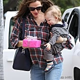 Jennifer Garner showed Samuel Affleck their new purchase.