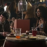 Lachlan Watson and Jaz Sinclair as Susie and Rosalind