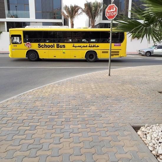 غرامة في الإمارات على تجاوز حافلات المدارس
