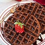 Chocolate Cake Mix Waffles