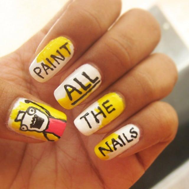 Meme Nail Art Ideas Popsugar Beauty