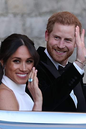 Meghan Markle's Blue Ring at Her Wedding 2018