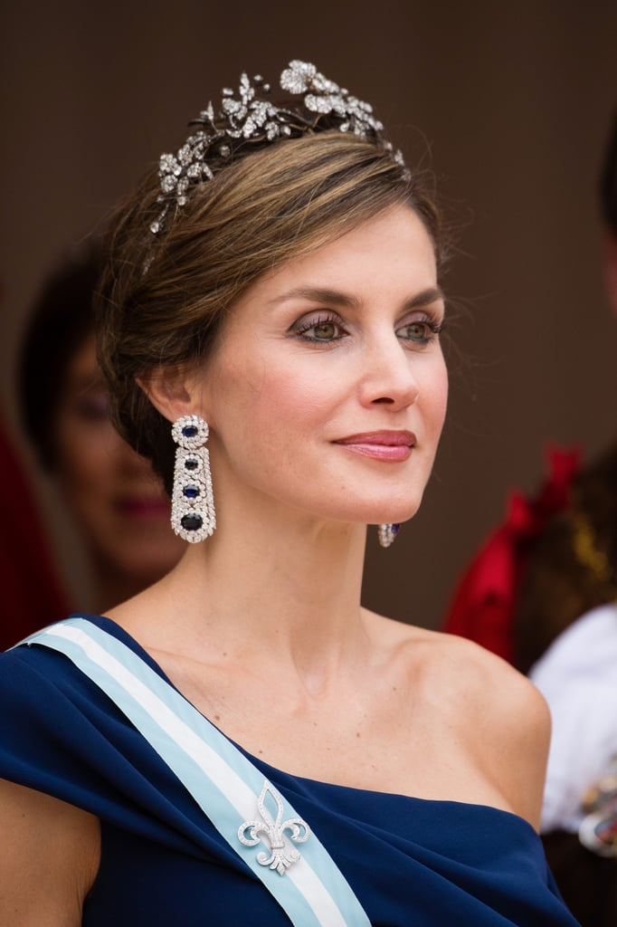 You Will Be Blinded by the Sparkle of Queen Letizia's Sapphire and Diamond Earrings
