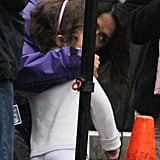 Salma Hayek kissed daughter Valentina Pinault.