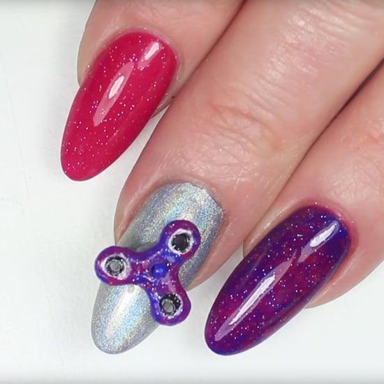 Fidget Spinner Nail Art