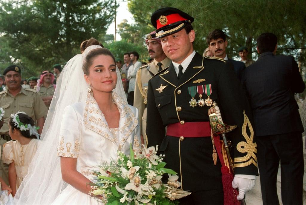 King Abdullah and Rania al Yassin