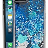 Skinny Dip Blue Glitter Heart iPhone 7 Case ($18, originally $30)