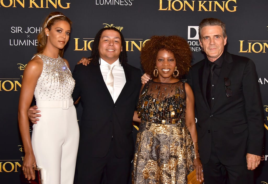 Pictured: Mavis Spencer, Duncan Spencer, Alfre Woodard, and Roderick Spencer at The Lion King premiere in Hollywood.