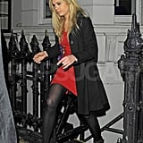 Chelsy Davy partied in London.
