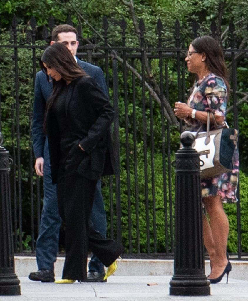 Kim Kardashian's Yellow Heels at the White House