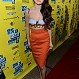 Selena Gomez posed on the red carpet at her SXSW premiere of Spring Breakers.