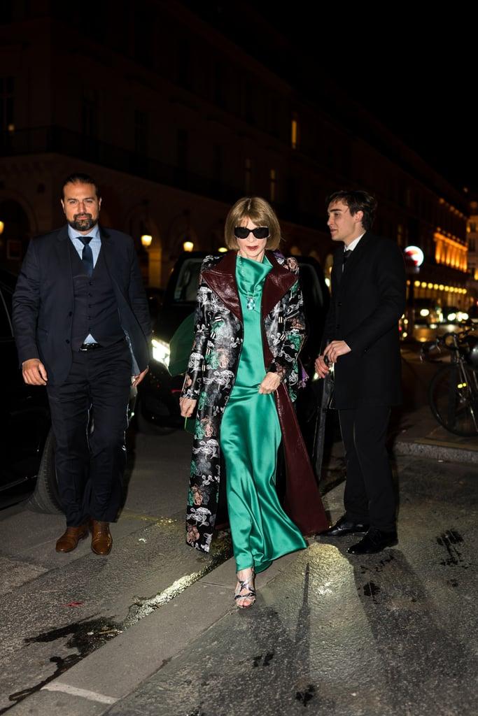 Anna Wintour at the Harper's Bazaar Exhibition During Paris Fashion Week 2020