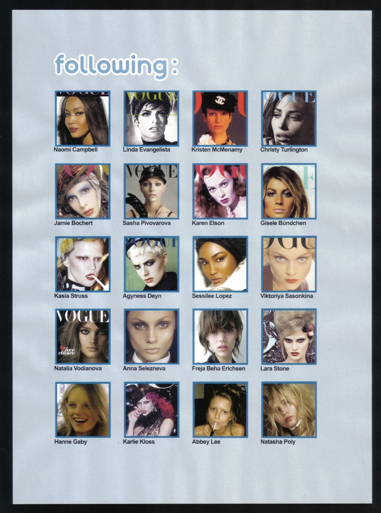 "Full Look: Steven Meisel Spoofs Twitter for Vogue Italia December 2009 with ""Meiselpic"""