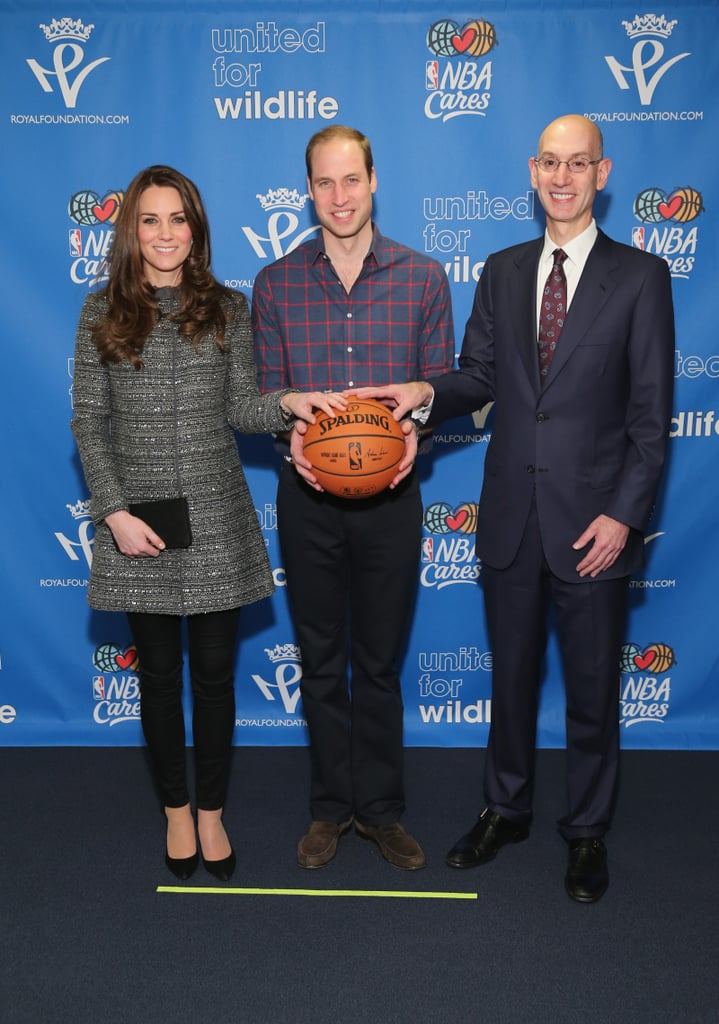Next, the Royal Couple Attended the Brooklyn Nets Game