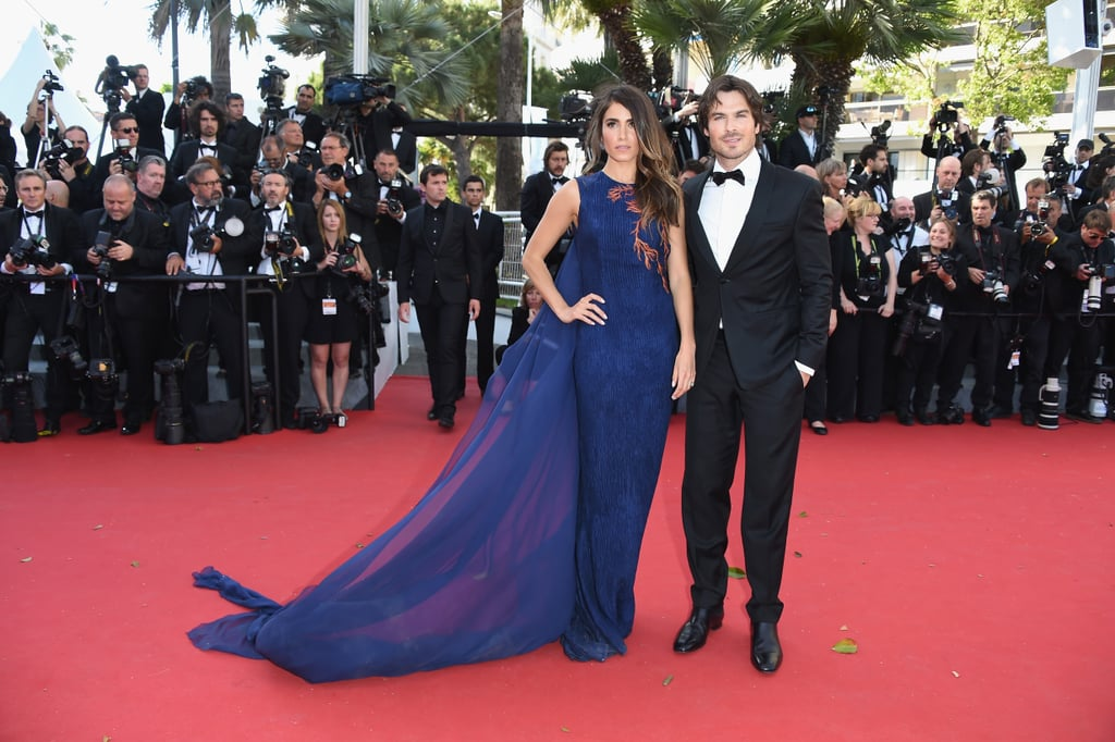 Ian Somerhalder and Nikki Reed may have just spent weeks travelling the world for their honeymoon, but they were back on the go on Wednesday when they made the trip to France for the Cannes Film Festival. The newlyweds touched down at the airport in Nice in the morning and hours later stepped out on the red carpet for the premiere of Youth. Nikki wore a blue Azzaro Couture gown while Ian went with a classic tuxedo. Despite the excitement of the film festival and the fact that Nikki turned 27 on Monday, the couple kept pretty straight faces as they made their way toward the grand staircase. See even more stars at Cannes as the big event continues this week.